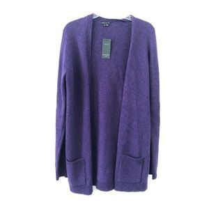 Theory • marled open front cardigan sweater